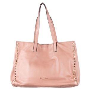 100% Auth VALENTINO Nappa Rockstud Soft Tote Bag